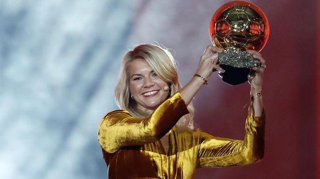 Norwegian soccer star Ada Hegerberg became the inaugural winner of the Women's Ballon d'Or on
