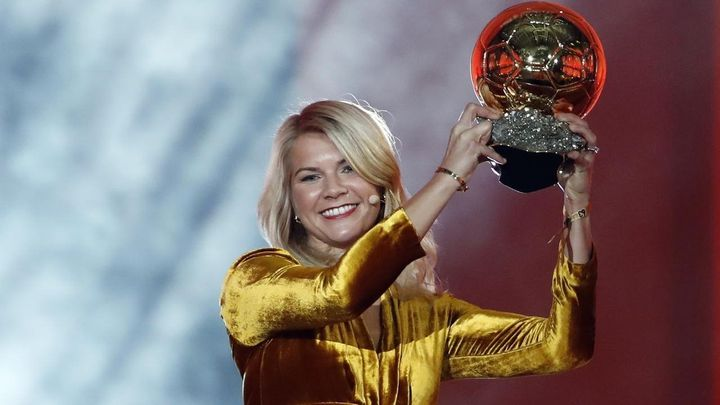 Norwegian soccer star Ada Hegerberg became the inaugural winner of the Women's Ballon d'Or on Monday.