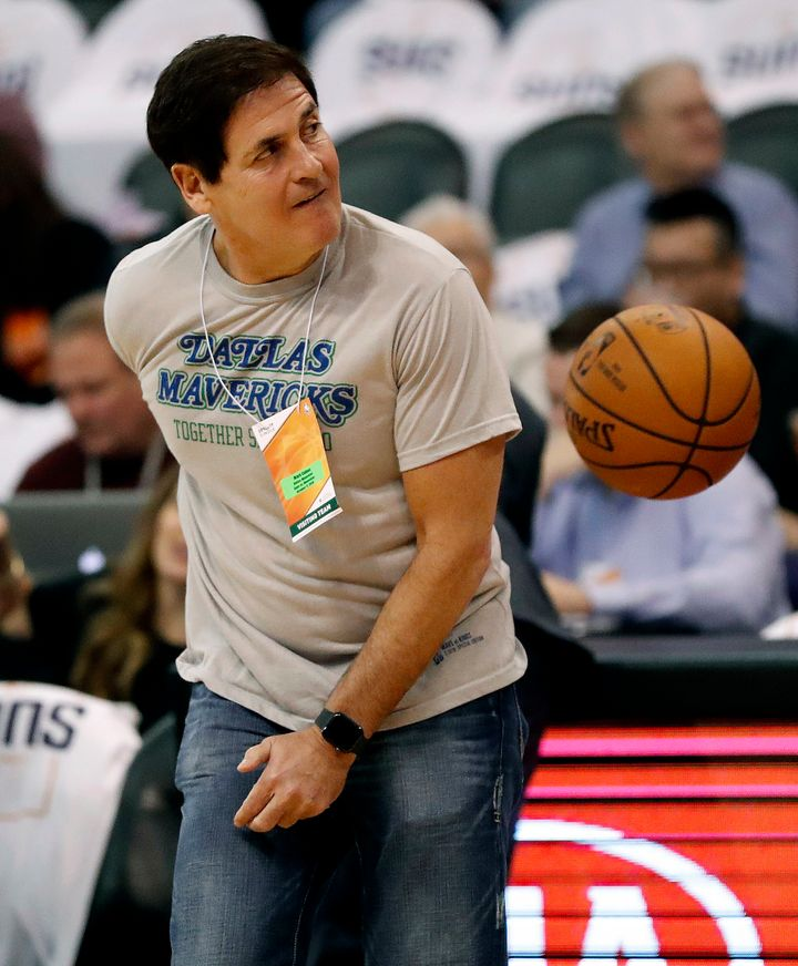 Dallas Mavericks owner Mark Cuban at an Oct. 17 game against the Phoenix Suns.