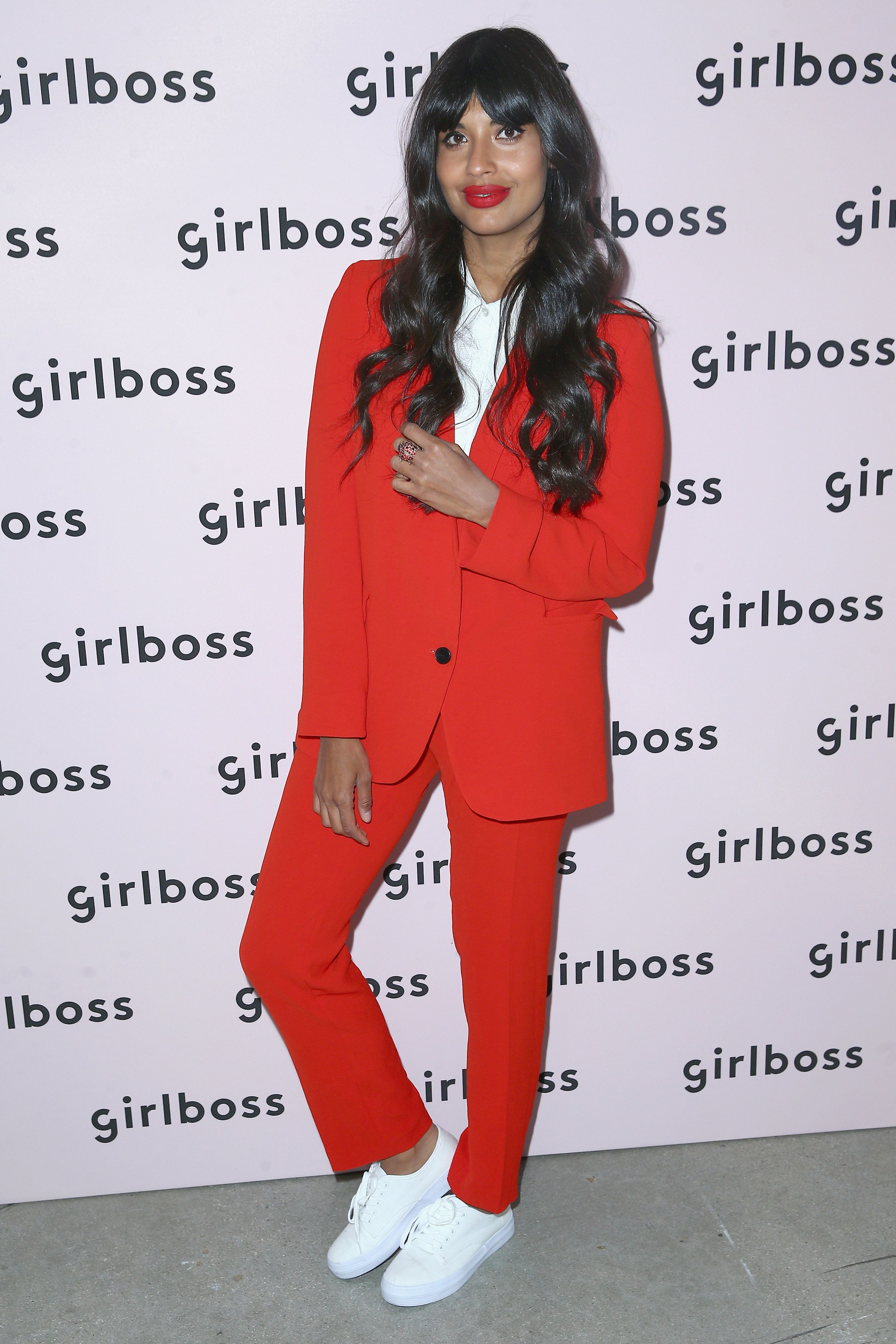 LOS ANGELES, CA - APRIL 28:  Actor and panelist Jameela Jamil attends 2018 Girlboss Rally at Magic Box on April 28, 2018 in Los Angeles, California.  (Photo by Rich Fury/Getty Images for Girlboss)