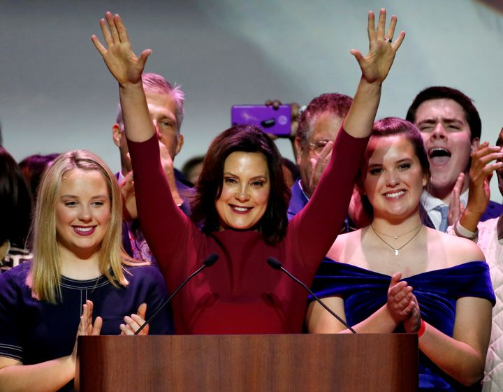 Gov.-elect Gretchen Whitmer was one of a host of Democratic women elected statewide in Michigan.