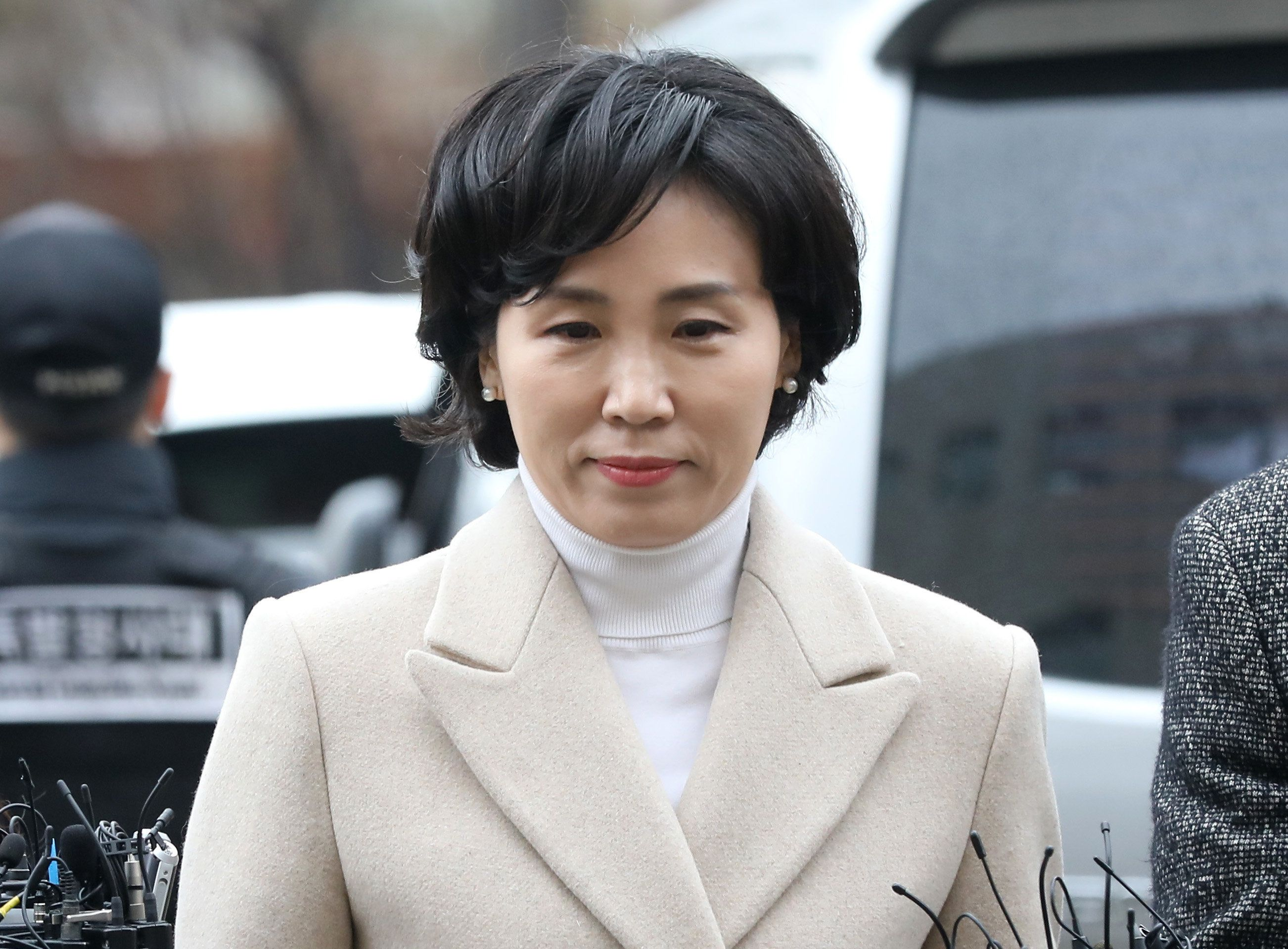 김혜경씨가 검찰에 출석하며