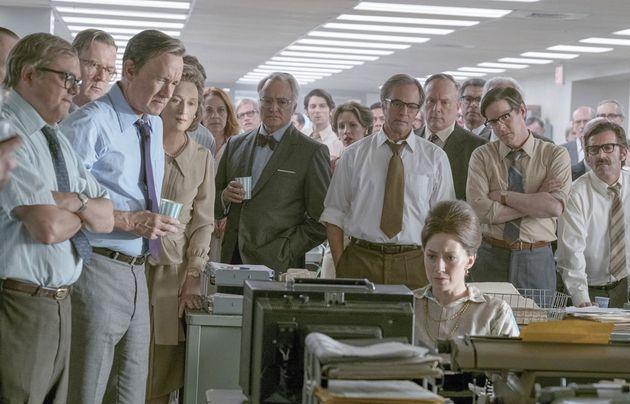 워싱턴 포스트의 소신을 잘 보여주는 영화 '더 포스트'의 한 장면. '더 포스트'는 '워터게이트' 폭로 이전에 세계를...
