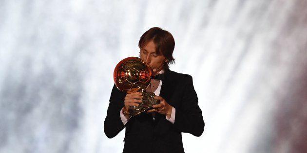 Auteur d'une année 2018 exceptionnelle, le milieu de terrain croate du Real Madrid Luka Modric...