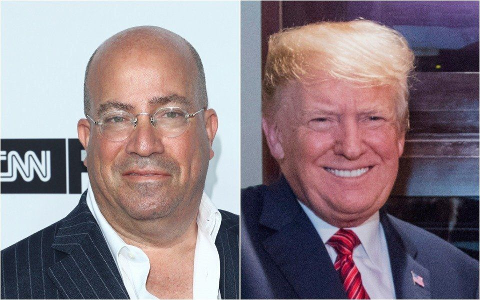 Jeff Zucker and Donald Trump