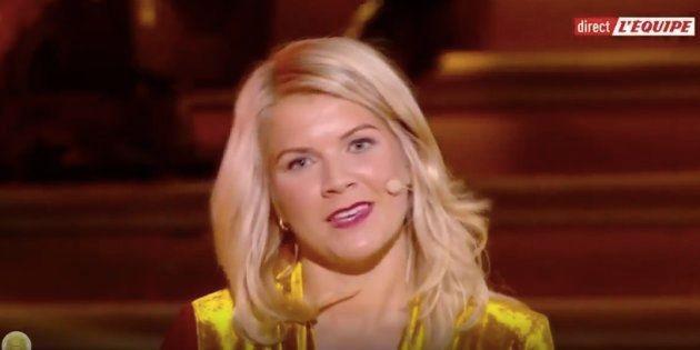 La star norvégienne de l'Olympique lyonnais n'a pas du tout apprécié la question...