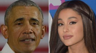 Barack Obama and Ariana Grande