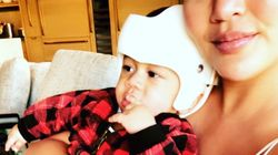 Chrissy Teigen's Cute Son Rocks A Helmet – And Other Kids Do