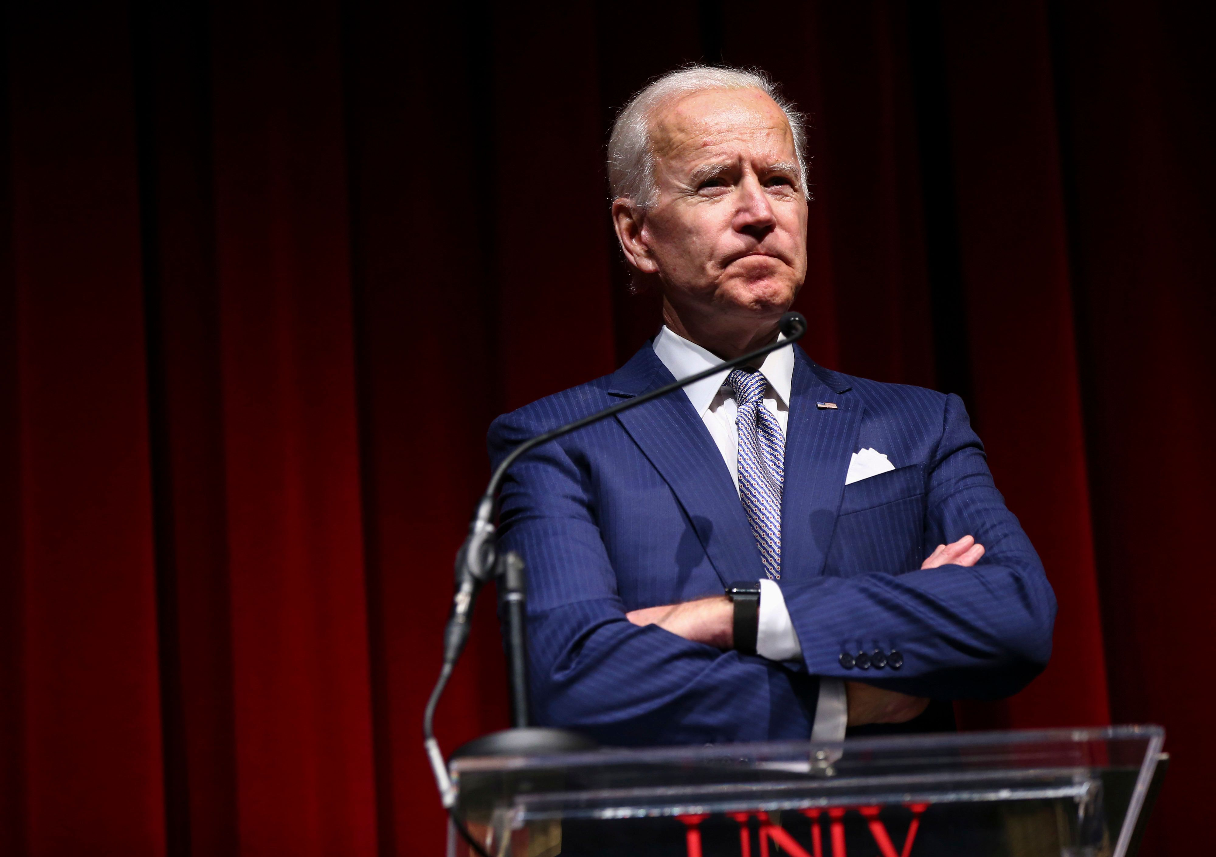 Former Vice President Joe Biden speaking during the UNLV William S. Boyd School of Law 20th Anniversary Gala in Las Vegas on