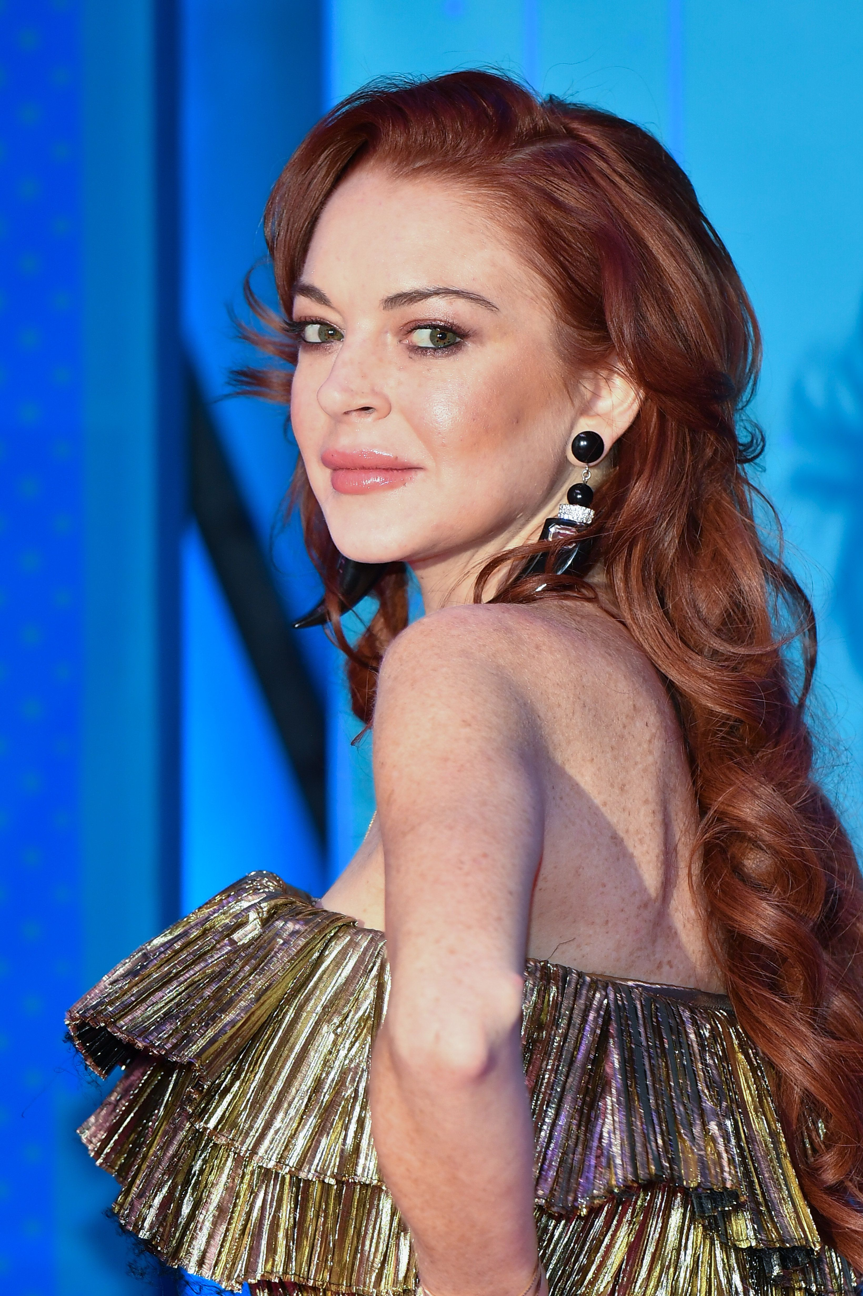 BILBAO, SPAIN - NOVEMBER 04:  Lindsay Lohan attends the MTV EMAs 2018 on November 4, 2018 in Bilbao, Spain.  (Photo by Stephane Cardinale - Corbis/Corbis via Getty Images)