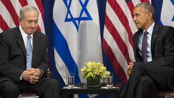 Former President Barack Obama, right, had a famously frosty relationship with Israeli Prime Minister Benjamin Netanyahu, but