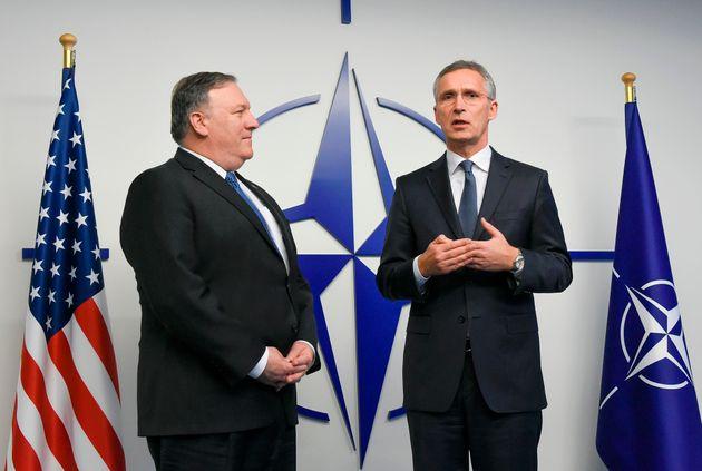 US-Außenminister Pompeo und Nato-Generalsekretär Pompeo.