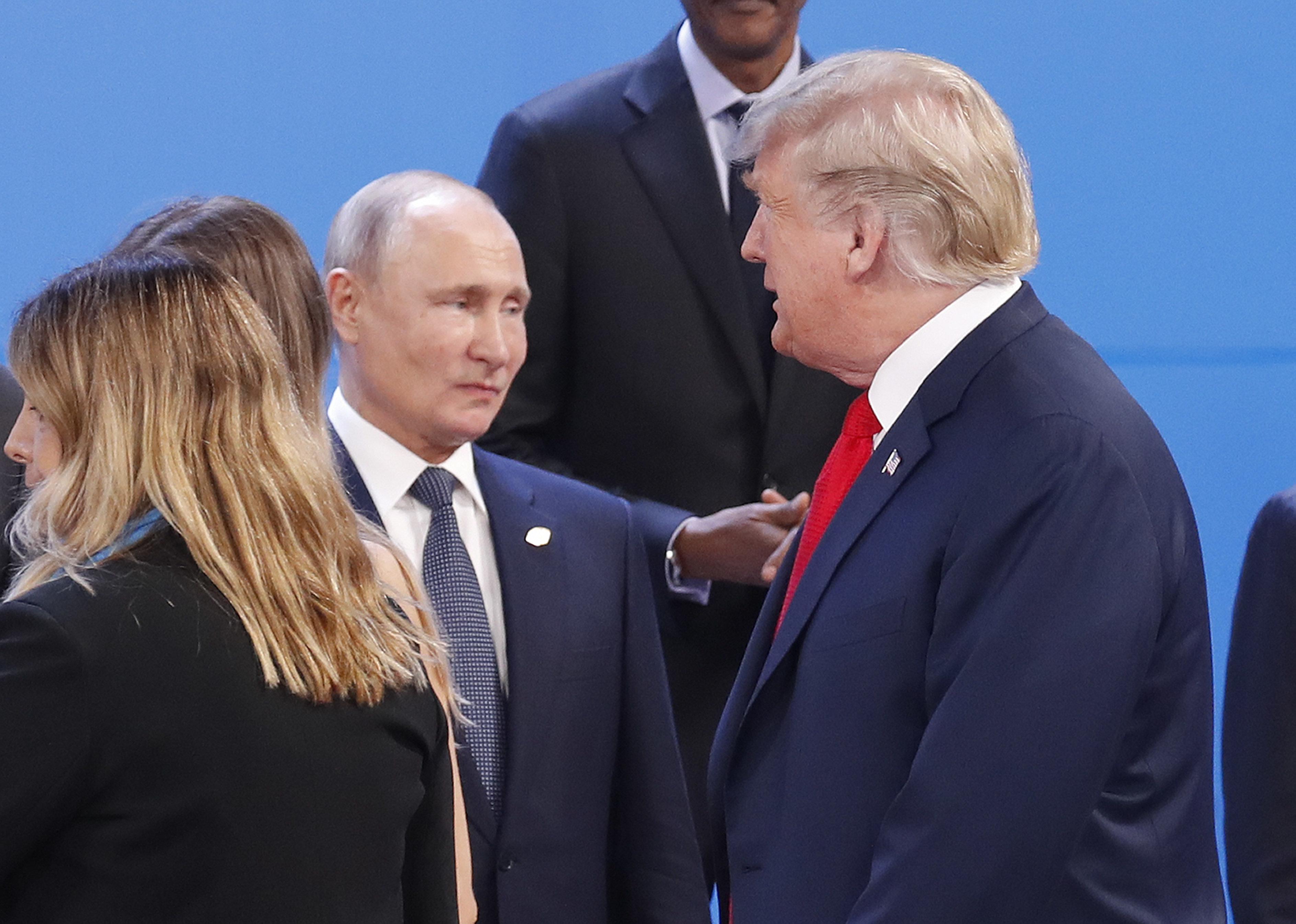 U.S. President Donald Trump and Russian President Vladimir Putin meet on the sidelines of the G-20 summit...