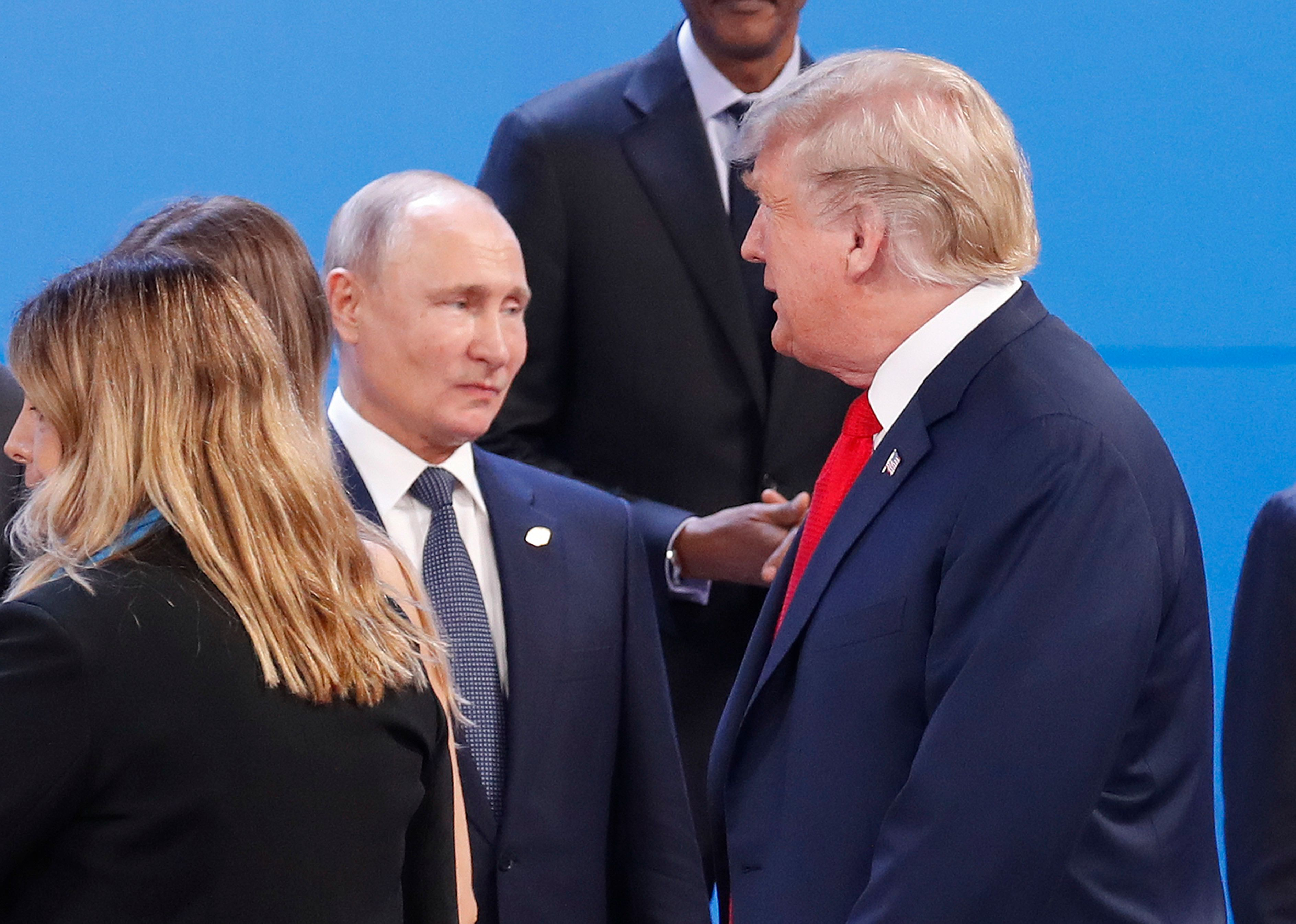 U.S. President Donald Trump and Russian President Vladimir Putin meet on the sidelines of the G-20 summit in Argentina.