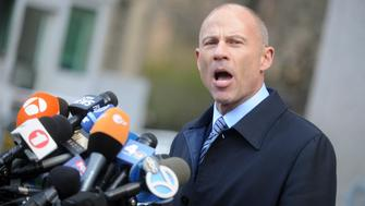 November 15, 2018 - Attorney Michael Avenatti has been arrested by Los Angeles police on suspicion of felony domestic abuse. - File Photo by: Dennis Van Tine/STAR MAX/IPx 2018 4/16/18 Stormy Daniels and her lawyer Michael Avenatti hold a press conference at the Federal Courthouse in New York City following the hearing for President Donald Trump's lawyer, Michael Cohen, at the US District Court for the Southern District of New York State. (NYC)