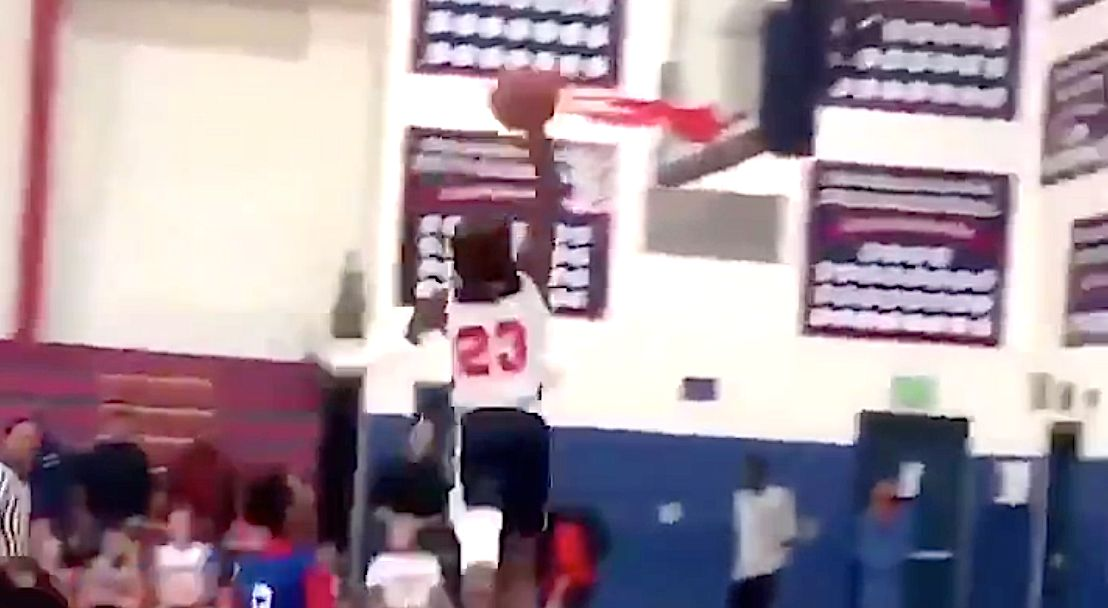 LeBron James Jr. Scores First Dunk In School Game As Dad