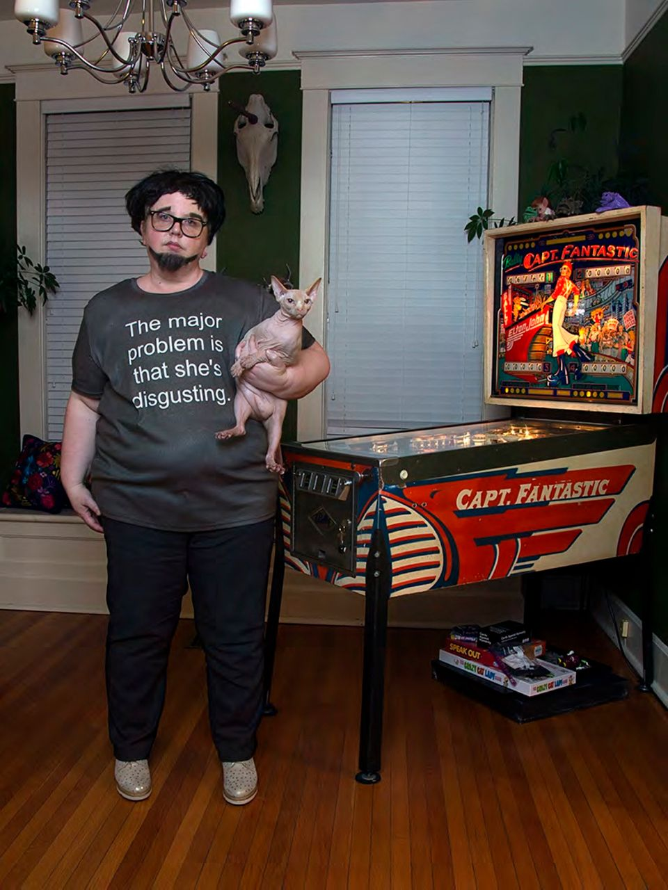 Photographer Haley Morris-Cafiero incorporates hateful messages from Internet trolls into her work,