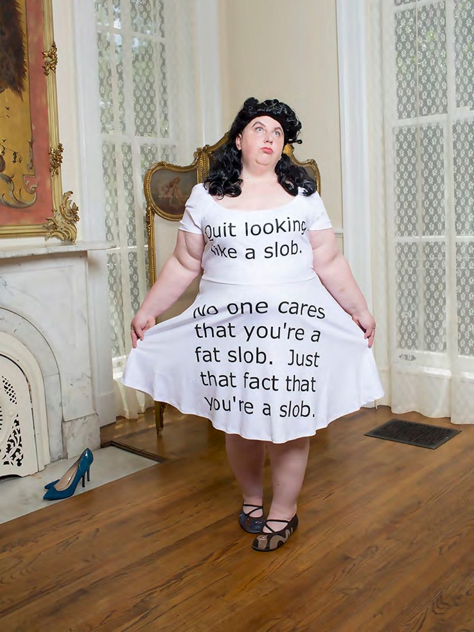 Photographer Mocks Fat-Shaming Trolls, Turning Their Comments Into Stunning