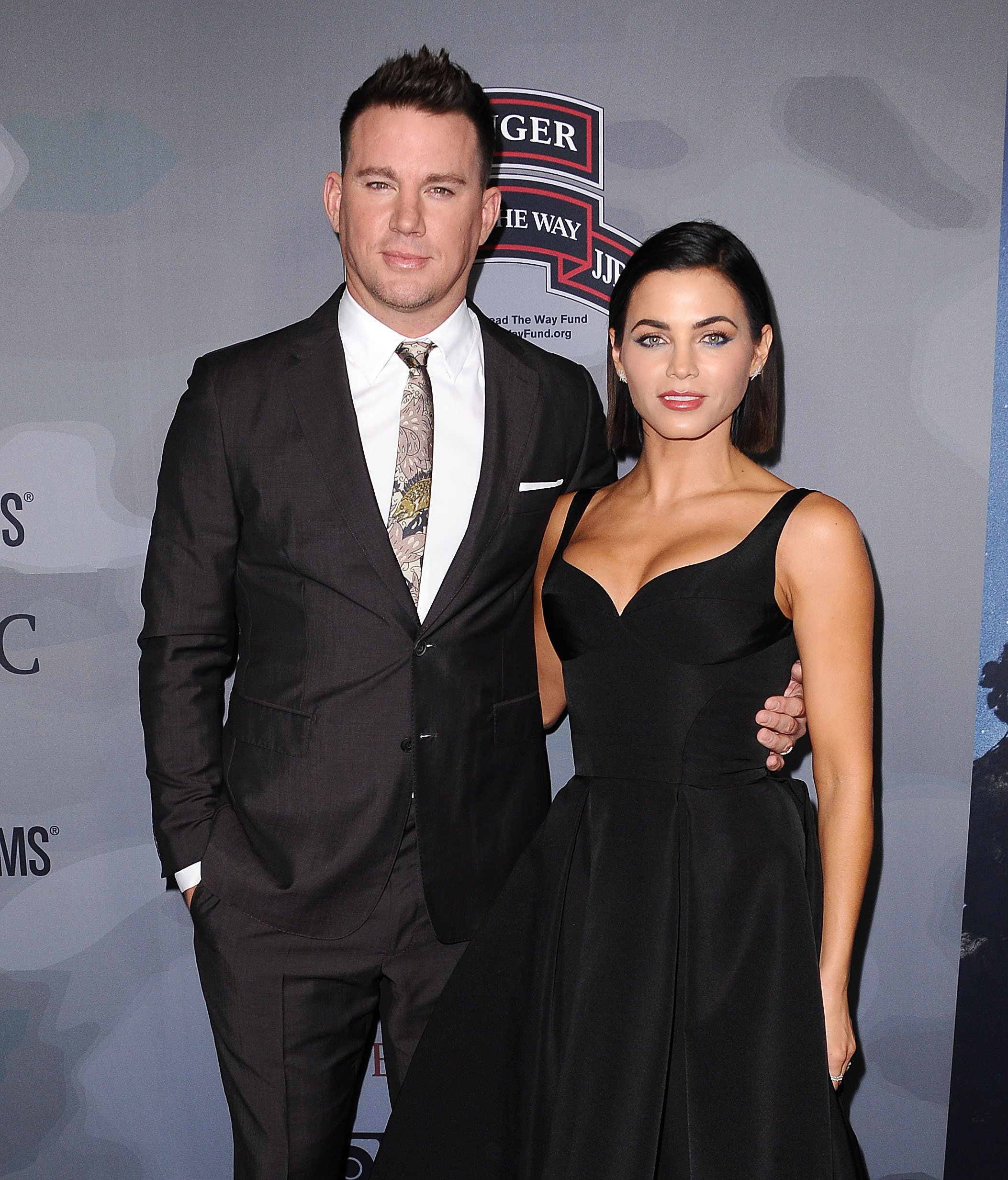 LOS ANGELES, CA - NOVEMBER 06:  Channing Tatum and Jenna Dewan Tatum attend the premiere of 'War Dog: A Soldier's Best Friend' at Directors Guild Of America on November 6, 2017 in Los Angeles, California.  (Photo by Jason LaVeris/FilmMagic)