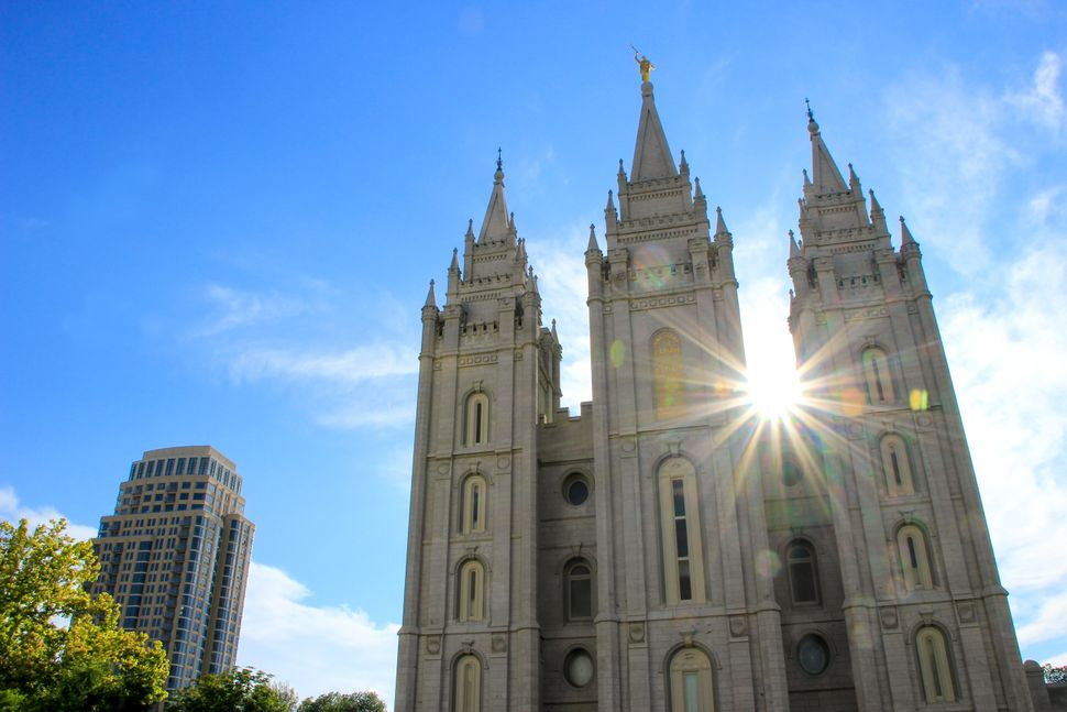 Temple of The Church of Jesus Christ of Latter-day Saints in Salt Lake City, the capital and the most populous city in Utah.