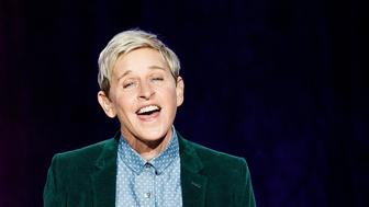 VANCOUVER, BC - OCTOBER 19:  Comedian Ellen DeGeneres seen onstage during 'A Conversation With Ellen DeGeneres' at Rogers Arena on October 19, 2018 in Vancouver, Canada.  (Photo by Andrew Chin/Getty Images)