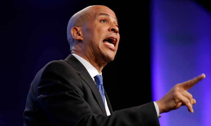 "Sen. Cory Booker (D-N.J.) said at the Bend Toward Justice event Tuesday: ""I'm the only U.S. senator that liv"