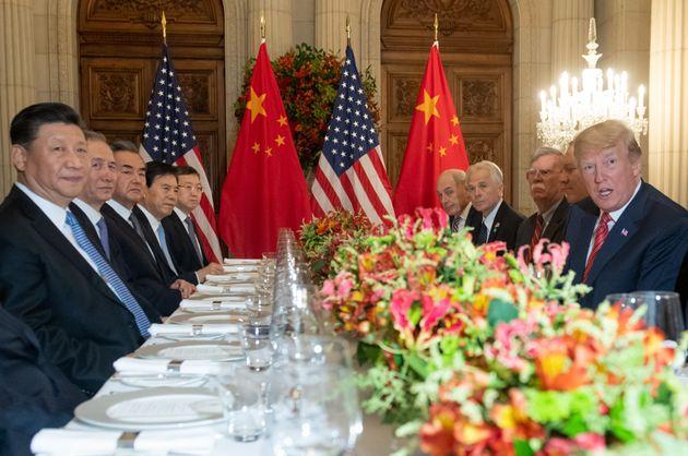 Xi und Trump beim Essen.