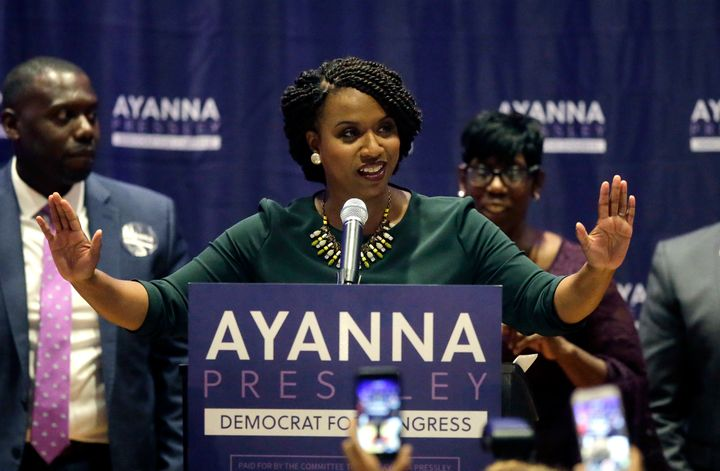 Rep.-elect Ayanna Pressley (D), whose Massachusetts congressional district includes Harvard, sought to draw attention to ineq