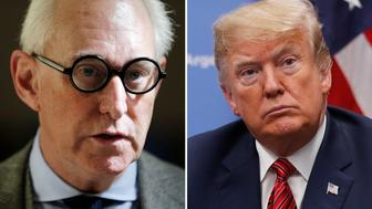 Trump may have crossed the line with his Roger Stone tweet. (AP)