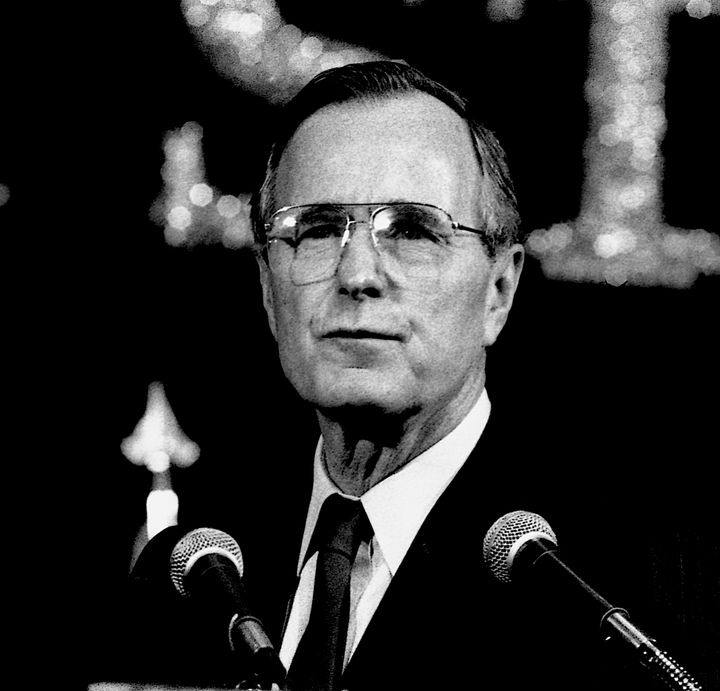 George H.W. Bush, then vice president, in 1988.