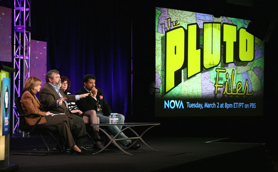 Though not from the event in San Francisco, this shows Neil deGrasse Tyson, right, speaking about
