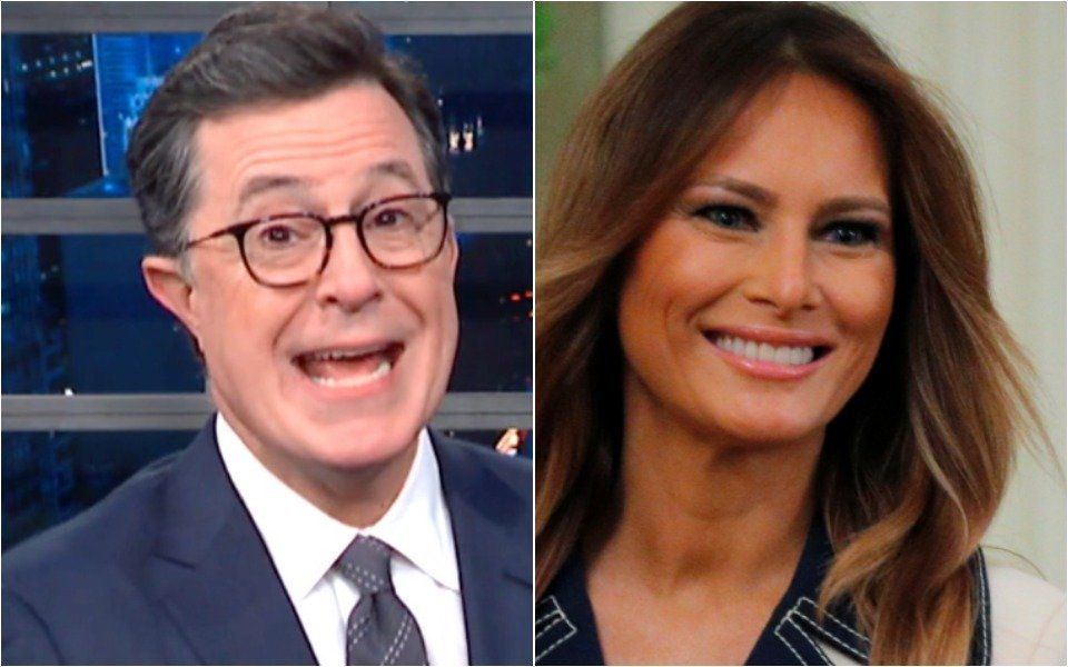Colbert Breaks Out Striking New Melania Impression, And The Audience Loses