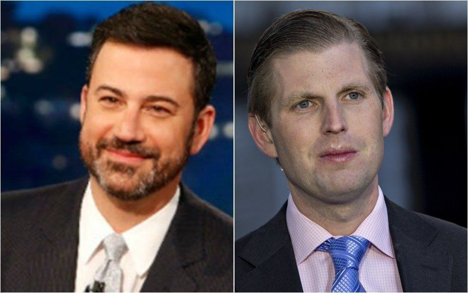 Jimmy Kimmel and Eric Trump