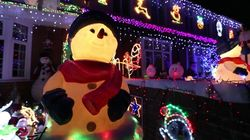 Britain's Most Festive Street Lights Up For
