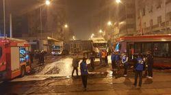 Violente collision entre le tramway et un camion à