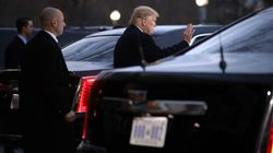 Trump steigt für 228 Meter Weg in seine Limo – und erntet