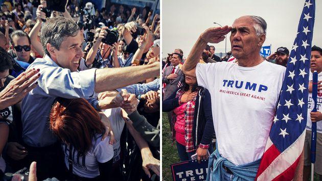 Der demokratische Hoffnungsträger Beto O'Rourke und ein treuer Trump-Anhänger: Die USA sind tief gespalten – selbst innerhalb der ideologischen Lager.