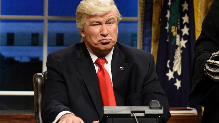 """Saturday Night Live,"" in which actor Alec Baldwin stars as President Donald Trump, was the most tweeted about TV show."