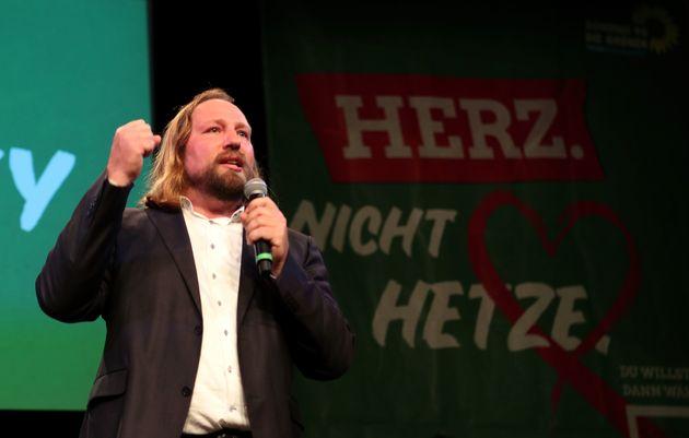 Der Fraktionsvorsitzende der Grünen, Anton Hofreiter, nach der historischen Bayern-Wahl.