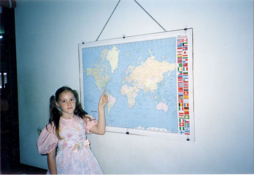 Edwards in Phuket, Thailand, taking a photo to illustrate homeschooling (1989).