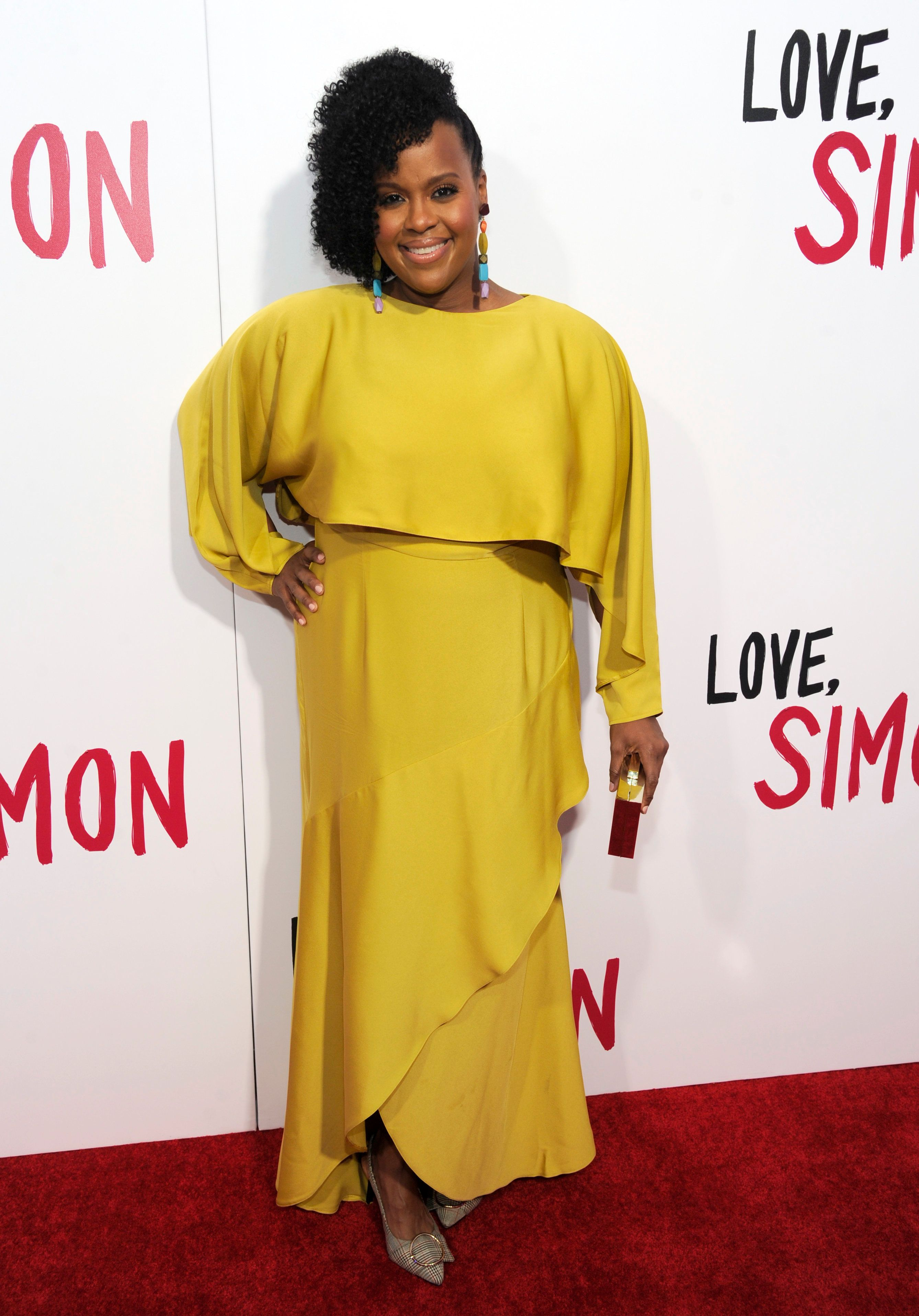 """Natasha Rothwell arrives at a special screening of """"Love, Simon"""" at Westfield Century City on Tuesday, March 13, 2018, in Los Angeles. (Photo by Chris Pizzello/Invision/AP)"""