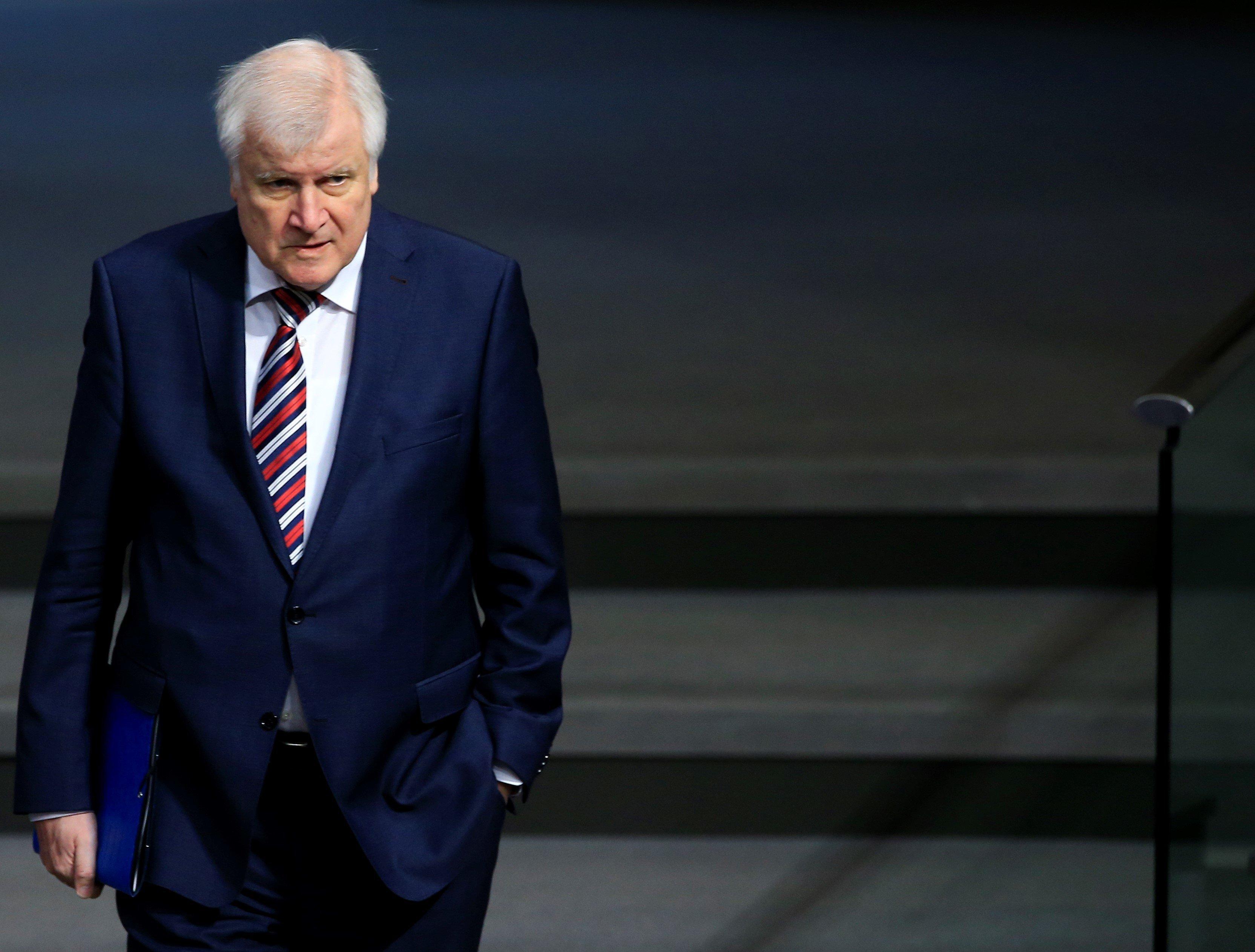 Horst Seehofer im Bundestag.