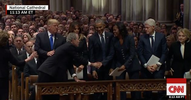 Παρουσία όλων των εν ζωή Αμερικανών προέδρων η κηδεία του Τζορτζ