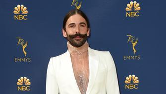 Jonathan Van Ness arrives at the 70th Primetime Emmy Awards on Monday, Sept. 17, 2018, at the Microsoft Theater in Los Angeles. (Photo by Jordan Strauss/Invision/AP)