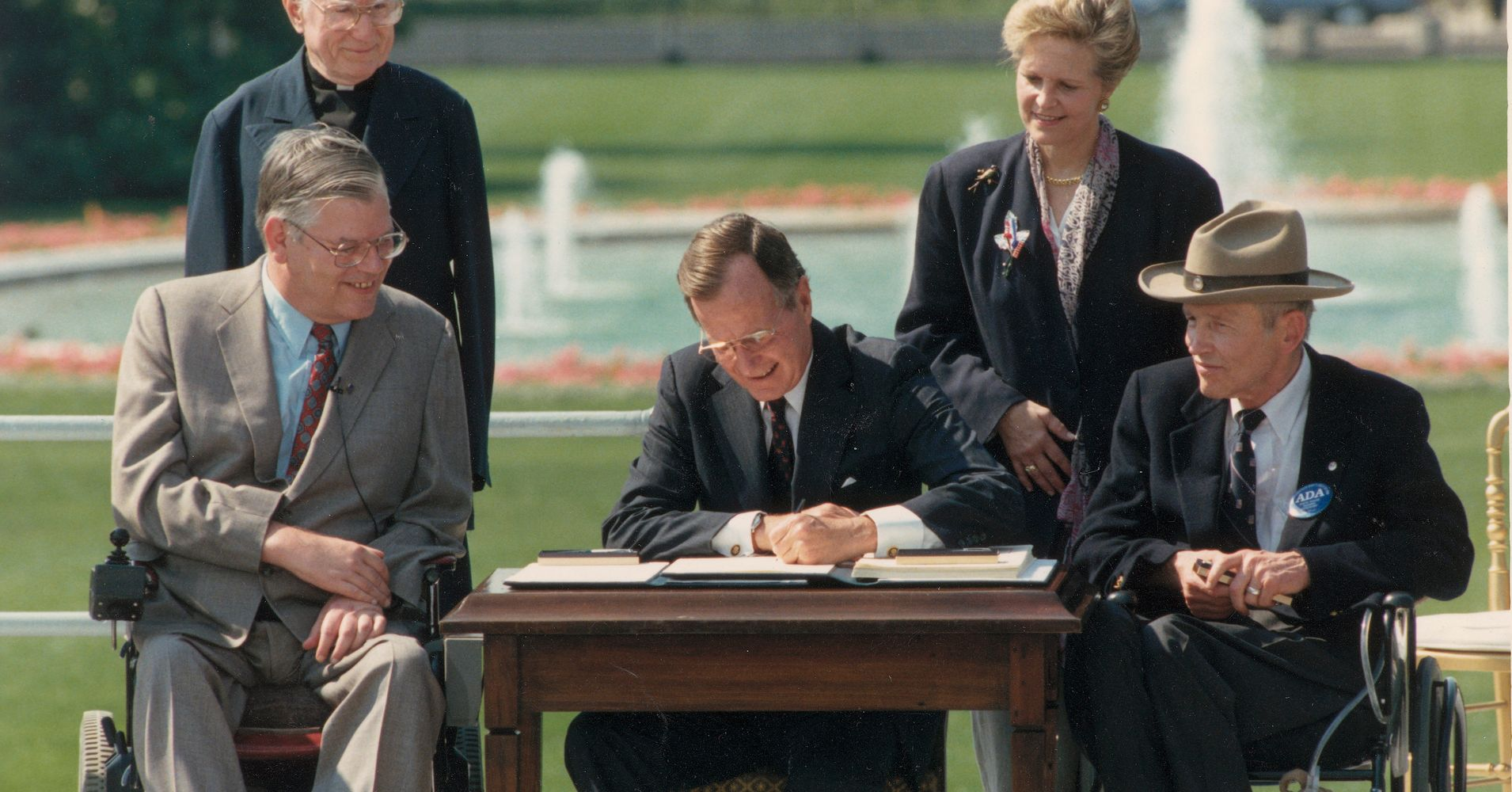 Why I Struggle Memorializing George H.W. Bush As A Liberal Woman With A Disability