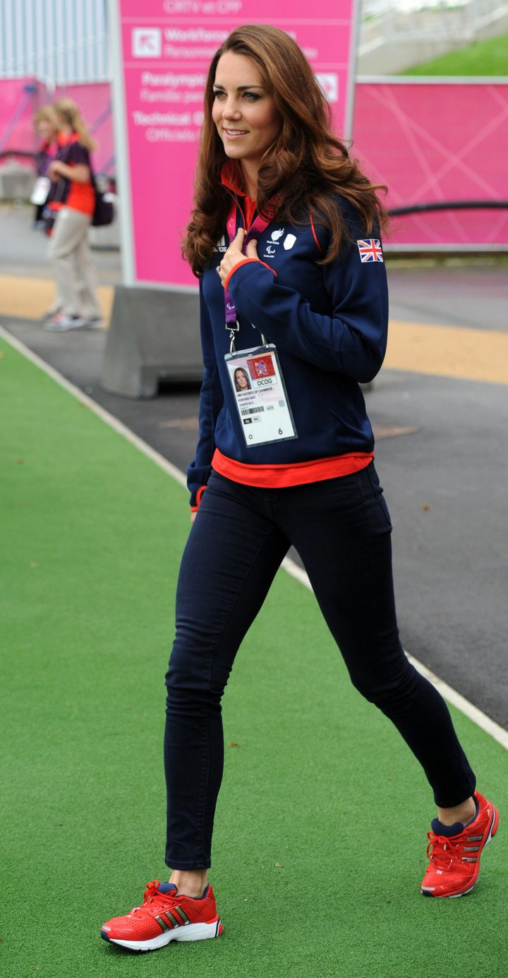 The Duchess of Cambridge during the London 2012 Paralympic Games on Aug. 30, 2012.