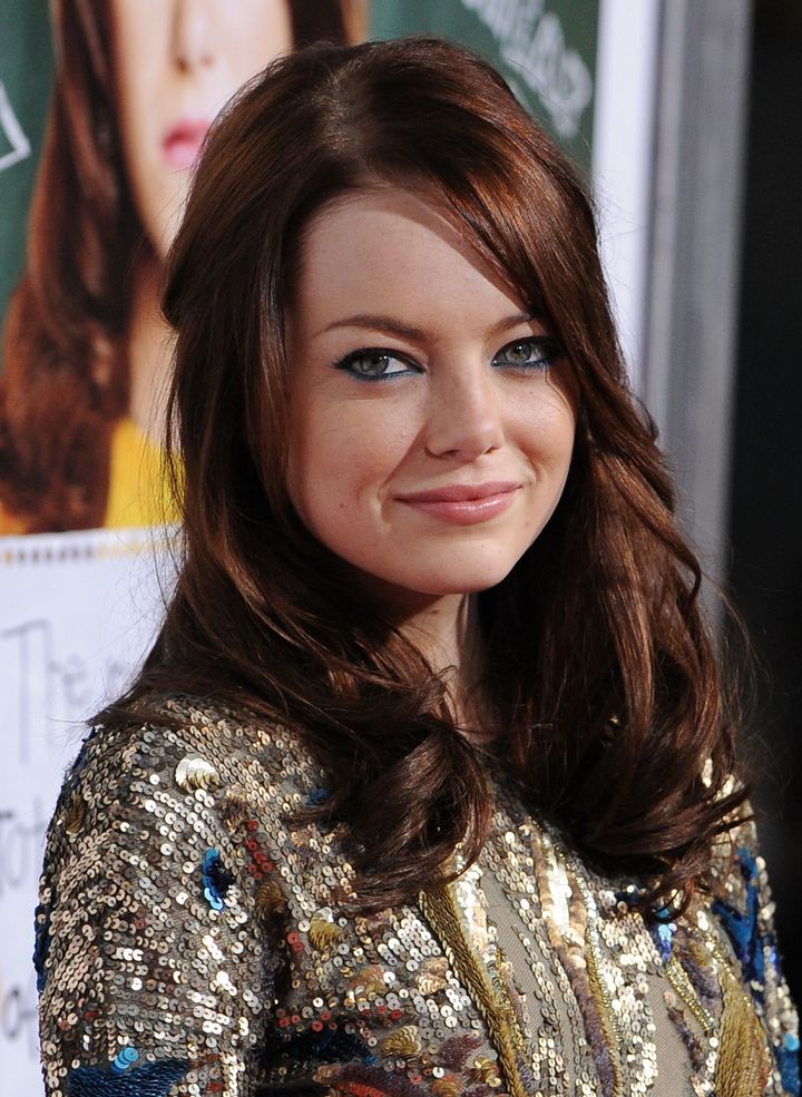 Emma Stone arrives at the Los Angeles