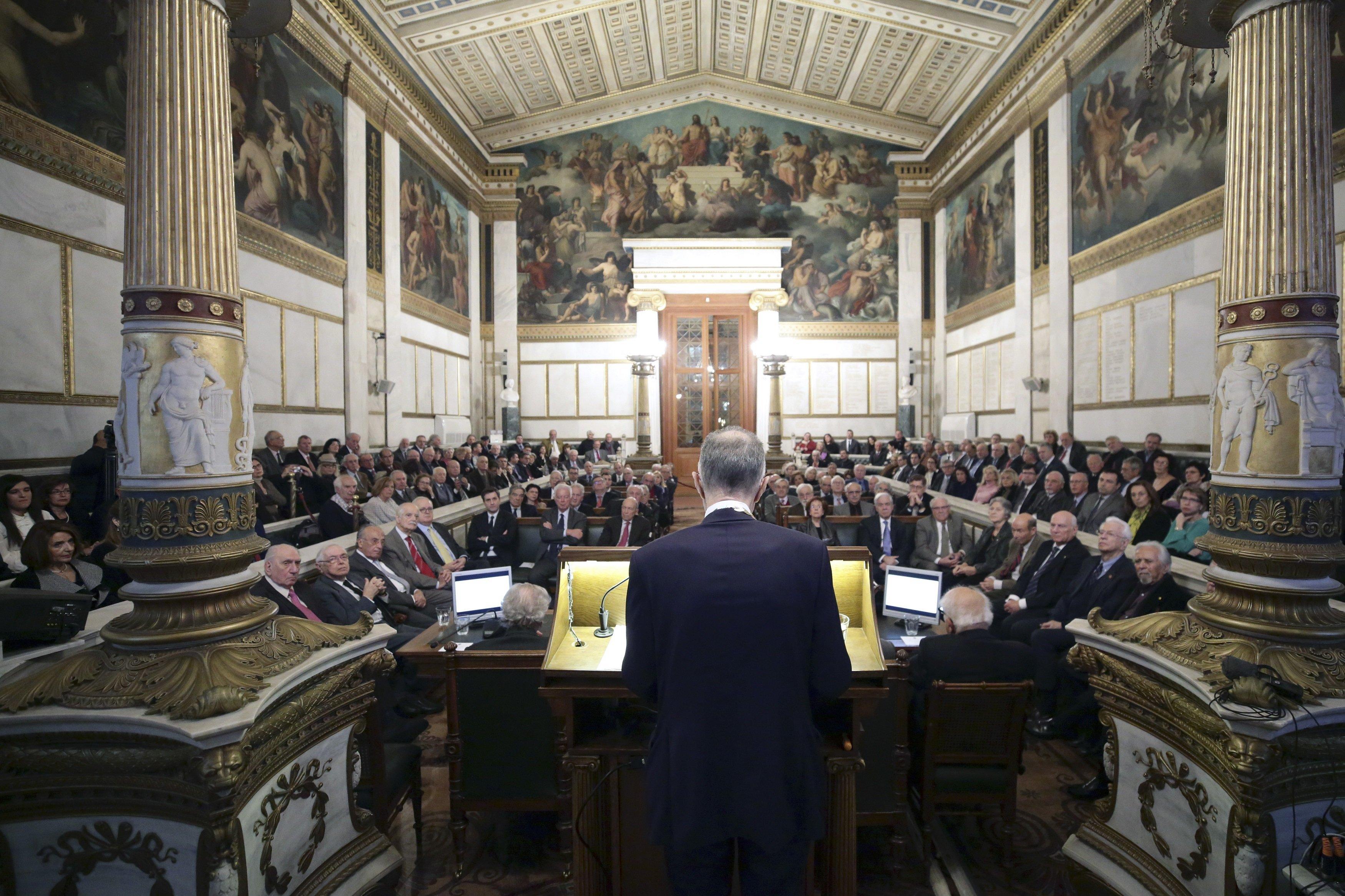 Βασίλης Ράπανος στην Ακαδημία Αθηνών: Οι πολίτες θα εμπιστευθούν μόνον υγιείς δημόσιους