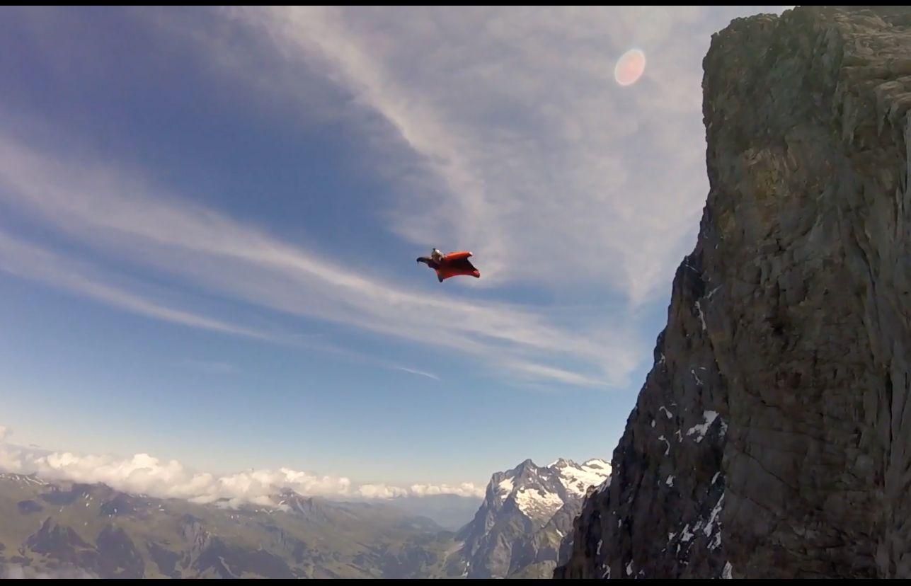 Man dies off swiss cliff in wingsuit