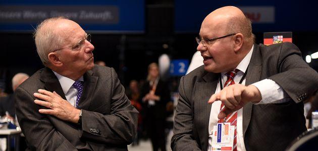 Wolfgang Schäuble (Team Merz) und Peter Altmaier (Team